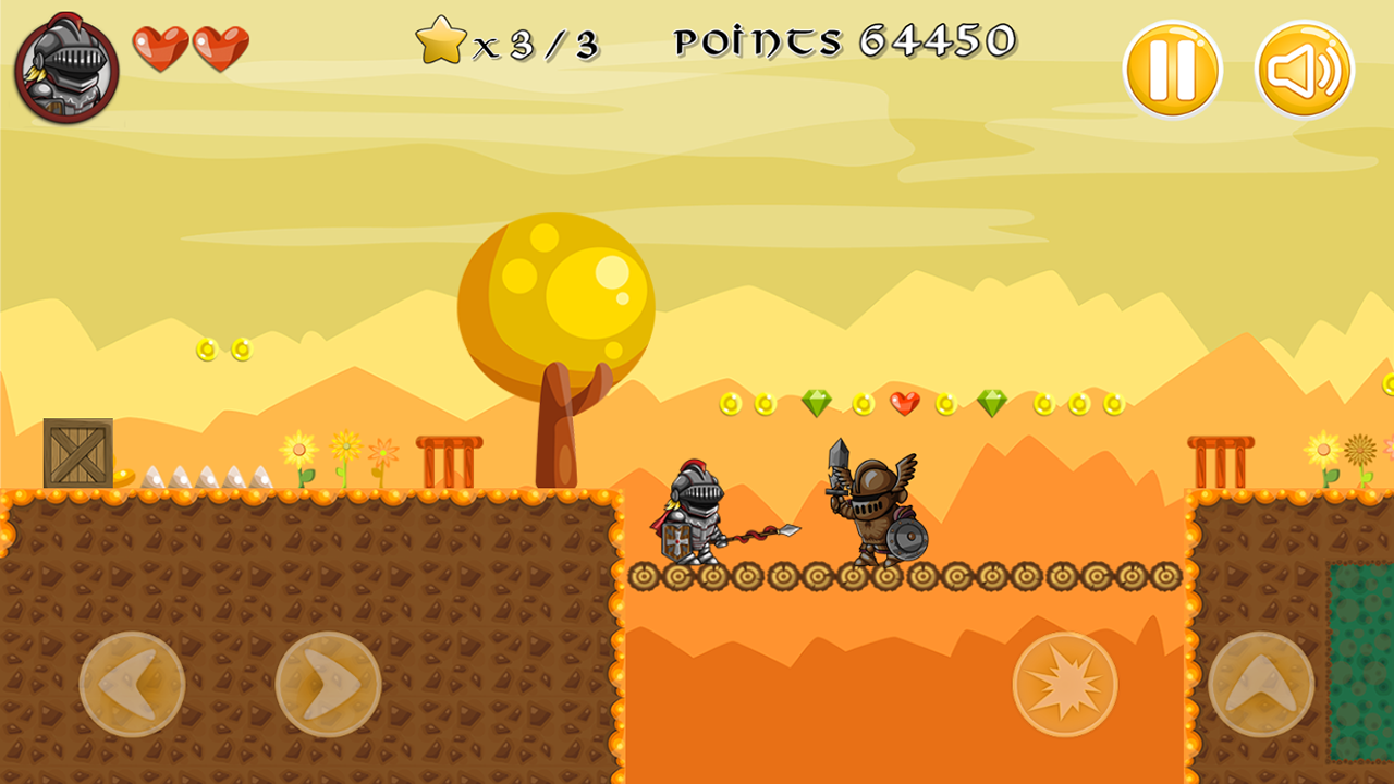 Super Knight HTML5 Platform Game Construct 2 (.capx