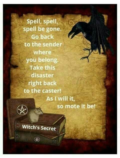 Return To Sender Posted By Phynxrizng Wiccan Spell Book Spells Witchcraft Spelling
