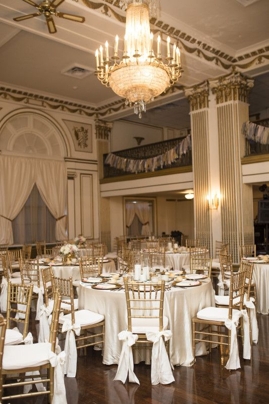 The Ballroom At George Washington Hotel In Pittsburgh Is A Luxe Gilded Event