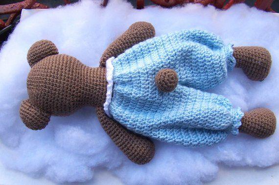 Crochet Bear Pattern-Crochet Rag Doll Bear Pattern-Amigurumi Bear-DIY Crochet Toy-Stuffed Toy Animal Tutorial-Snuggly Bear Crochet Pattern #crochetbearpatterns