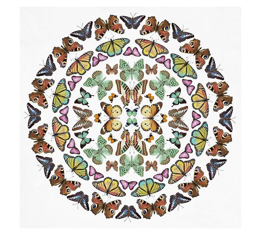 Butterfly kaleidoscope print pottery barn wall art