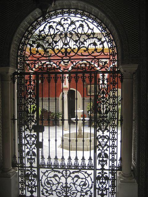Rejas para puertas en arco buscar con google rejas pinterest rejas para puertas rejas y - Puertas de hierro para patios ...