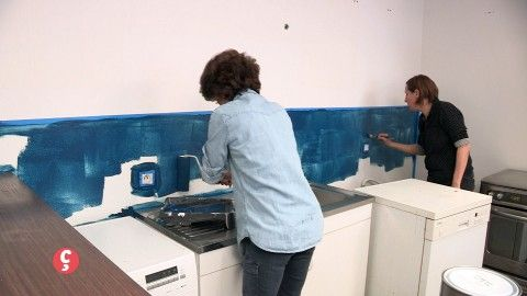 DECO Une cuisine relookée ! Céline a une grande cuisine ouverte - agencement de cuisine ouverte