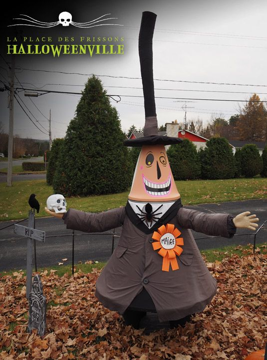 Maire D U0026 39 Halloweenville Fait Main  Du Film L U0026 39  U00c9trange No U00ebl