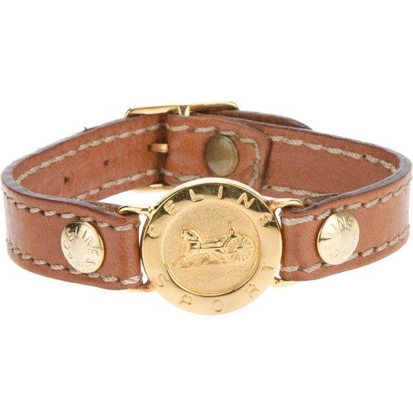 Celine Vintage Contrast Buckle Bracelet 329 Found On Polyvore Buckle Bracelet Vintage Bangles Brown Jewelry