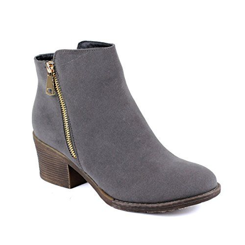 Reneeze Women's Blocked Heels Ankle Booties -- Be sure to check out this  awesome product.