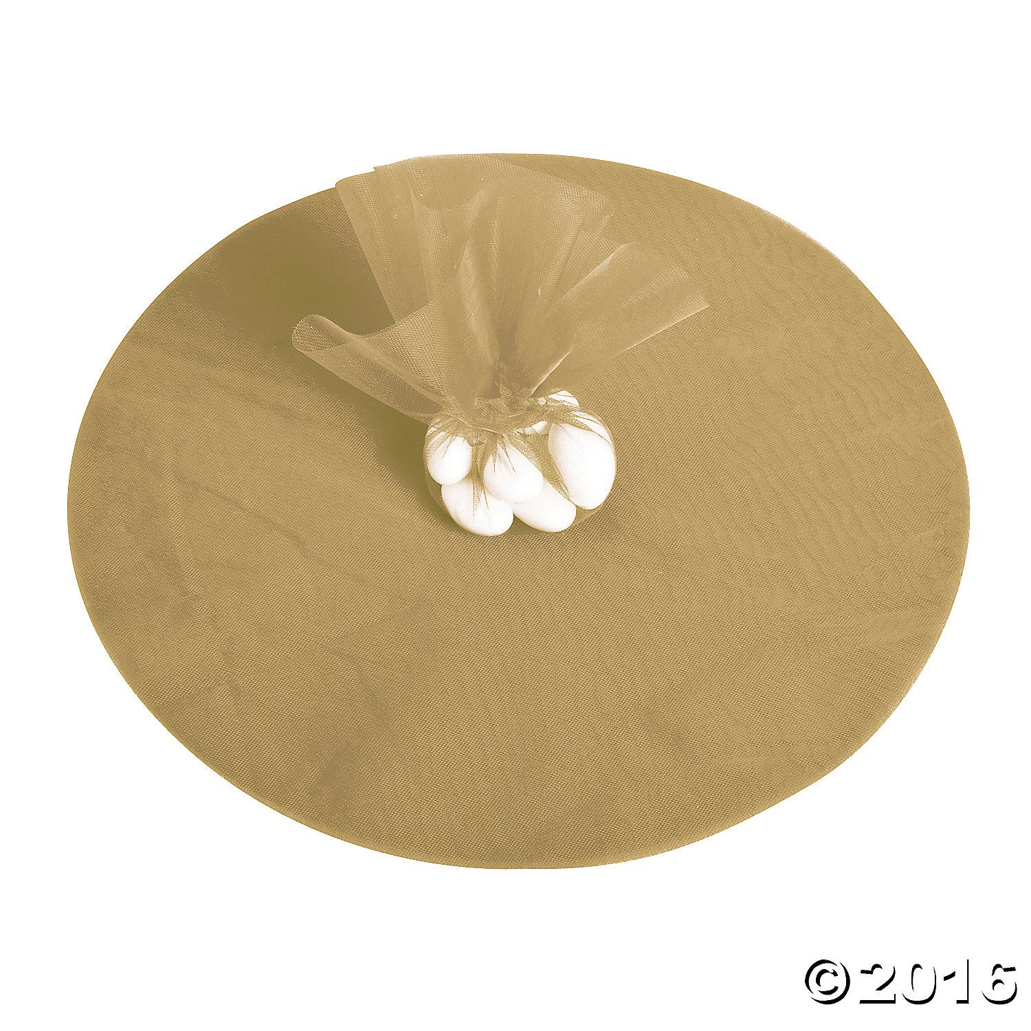 Gold Tulle Circles Gold Tulle And Favors