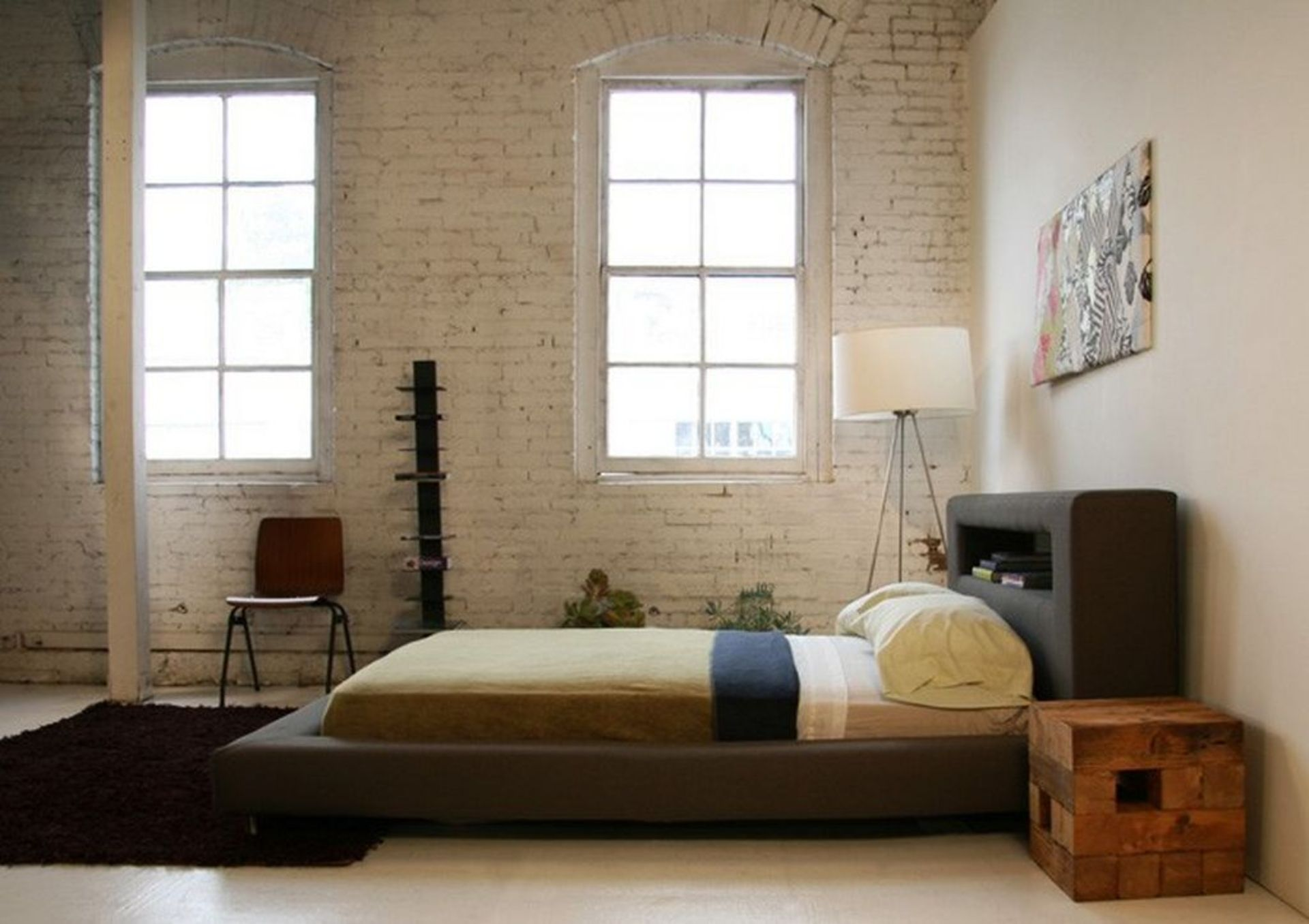Bedroom Rustic Modern Low Profile King Bed Frame With Leather