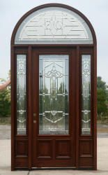 Half Round Transom 8 0 Exterior Mahogany Doors Sidelights Half