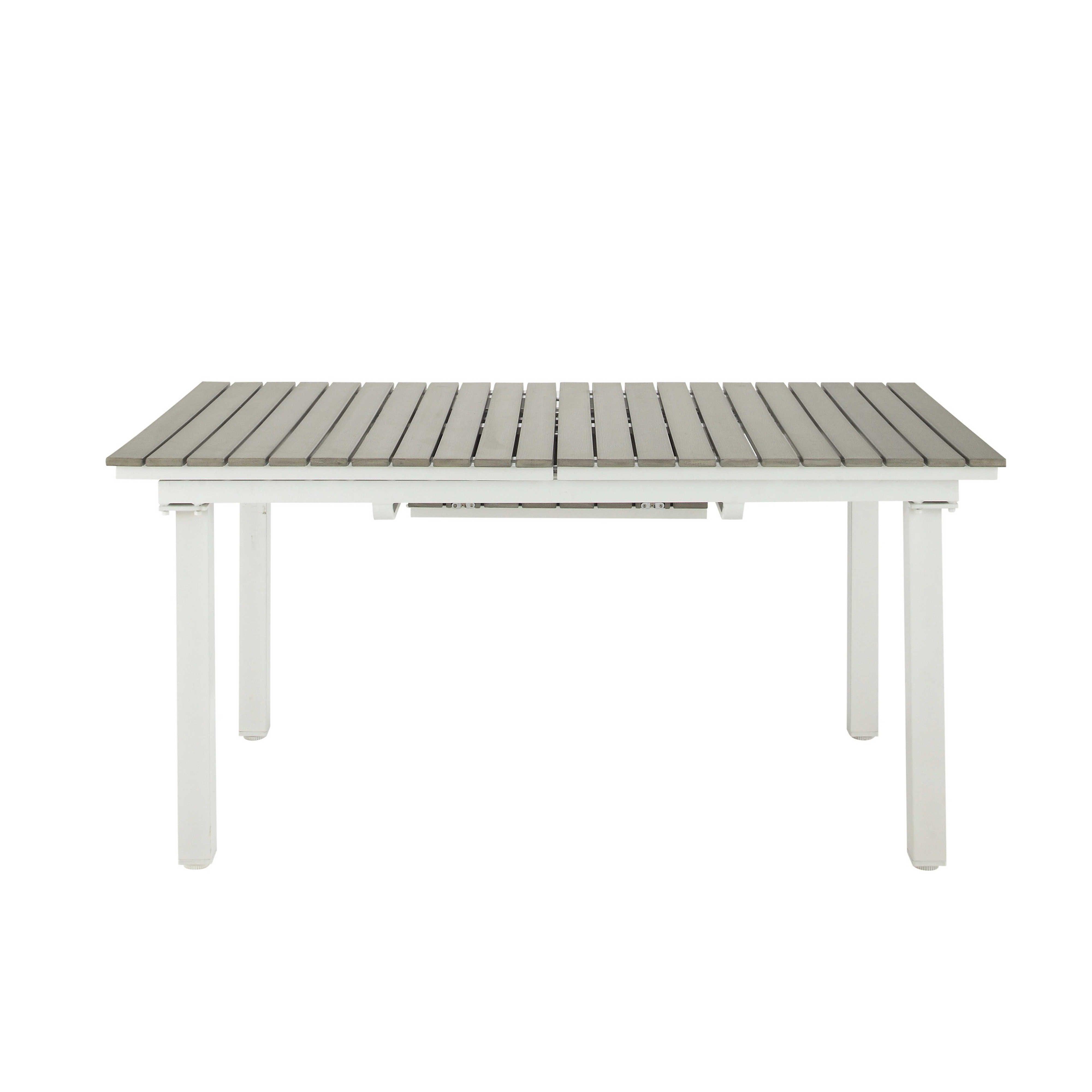 Table De Jardin Extensible Aluminium Et Composite. Perfect Stunning ...