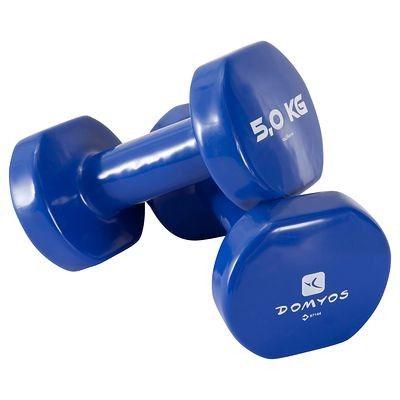 61d69b5df8de7c Tonificazione Materiale fitness, Palestra - Manubrio pvc 2*5 kg DOMYOS -  Yoga,