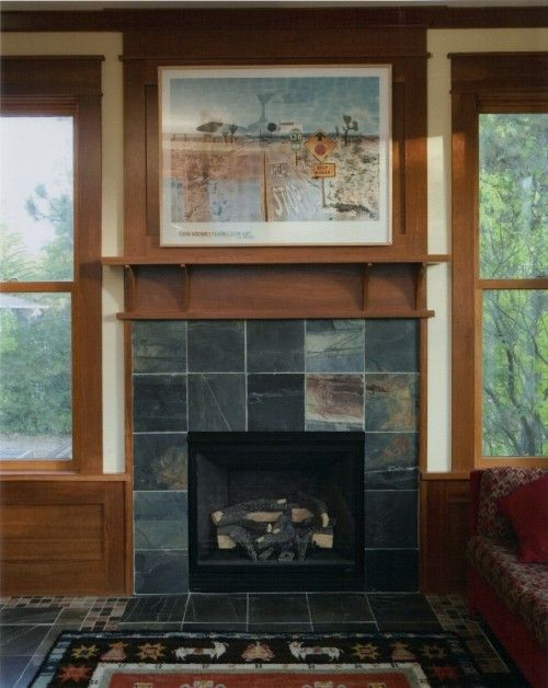 Noted Slate Around Fireplace Could Echo Colors Of Stonework Outside Renovation Fabulous