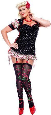 Paper Magic Womens French Kiss Pin-up Girl Plus Size Costume