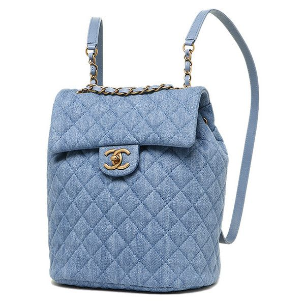Chanel Bags Chanel A91121 Y60436 2b314 Washed Denim Gold Metal 3 991 Liked On Polyvore Featuring Bags Backpac Chanel Bag Chanel Backpack Rucksack Bags