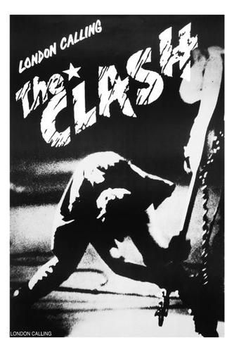 The Clash London Calling Framed Canvas Print