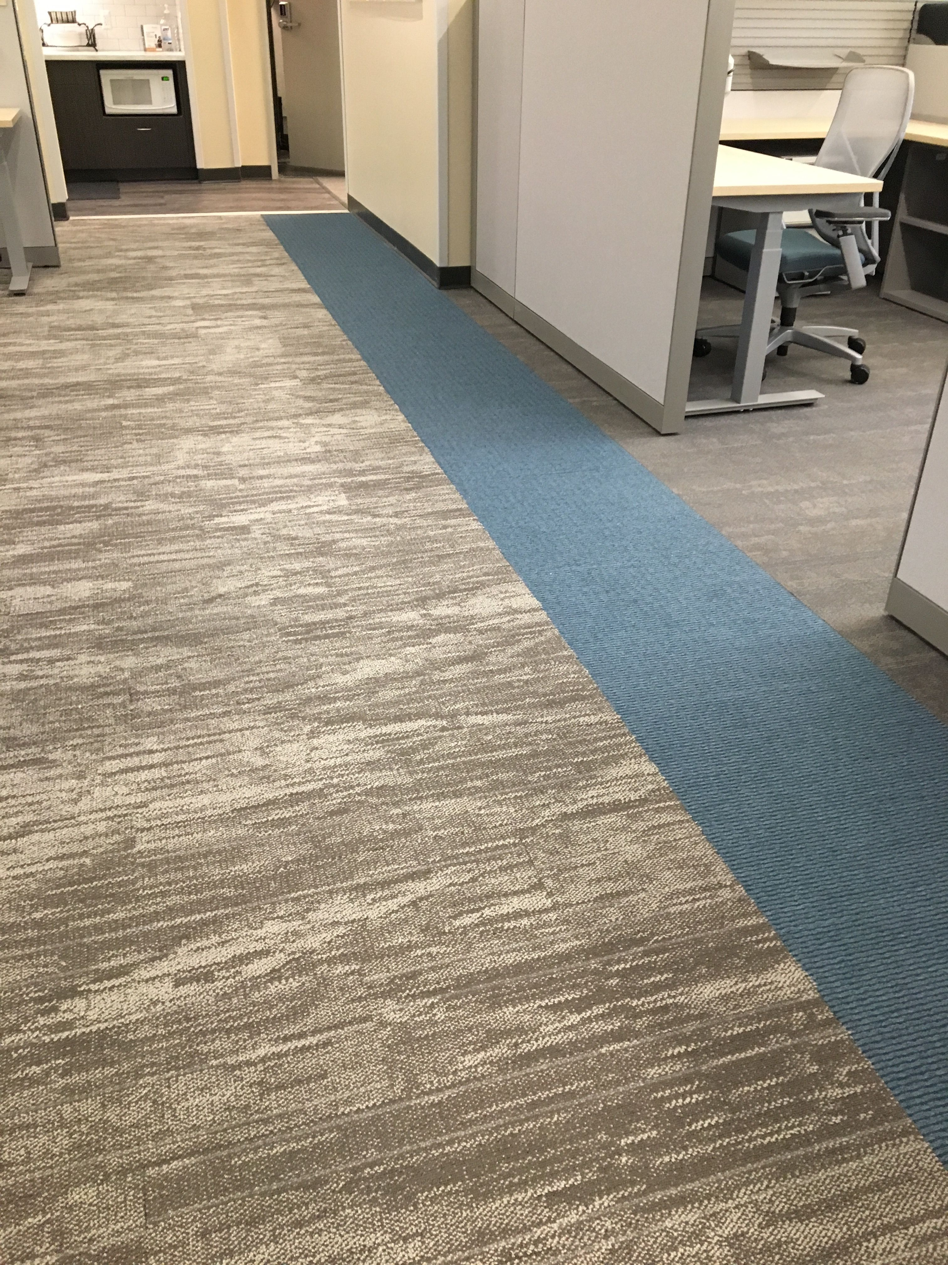 Veil Carpet Tile 12 X 48 With The Brights Blue By Ef Contract Flooring Carpet Tiles Carpet Plank