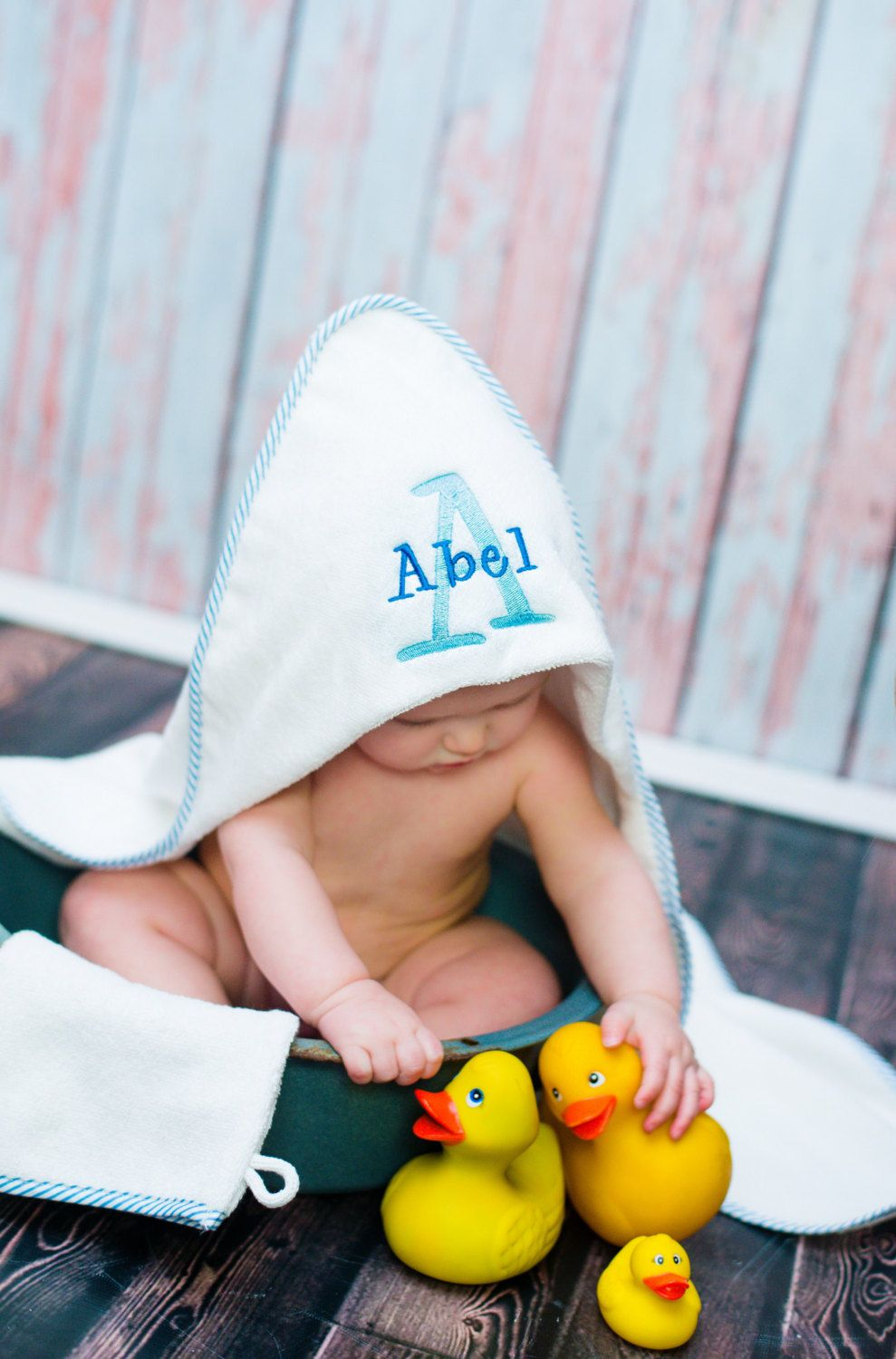 Baby bath robe hooded baby towel personalized baby washcloth set new to jennifernoeldesigns on etsy personalized infant hooded towel and mitt set newborn gift baby bath towel personalized towel monogrammed towel 3700 negle Image collections