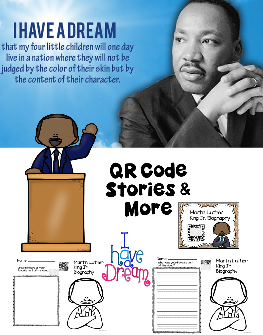 This Unit On Martin Luther King Jr Includes Activities