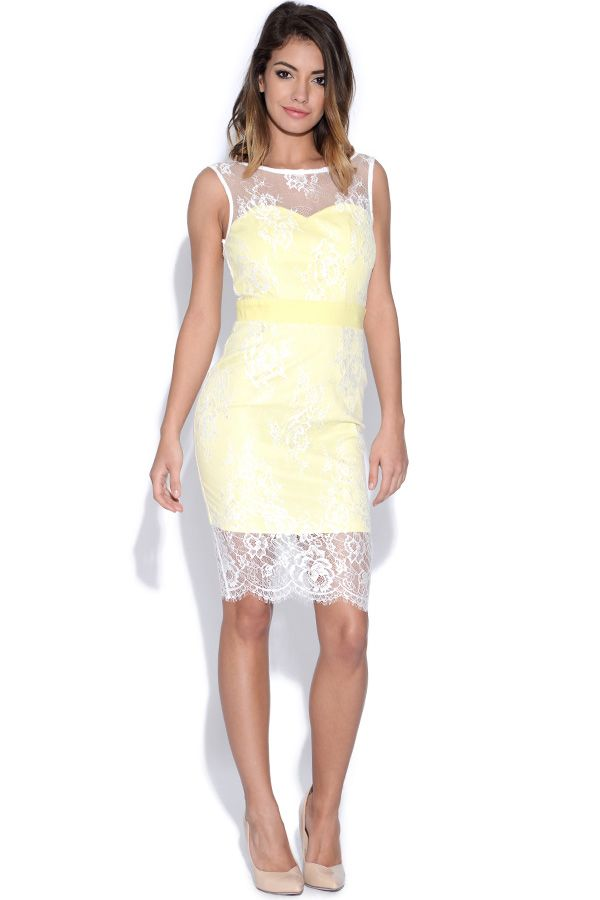 17 best ideas about Yellow Bodycon Dresses on Pinterest   Yellow ...