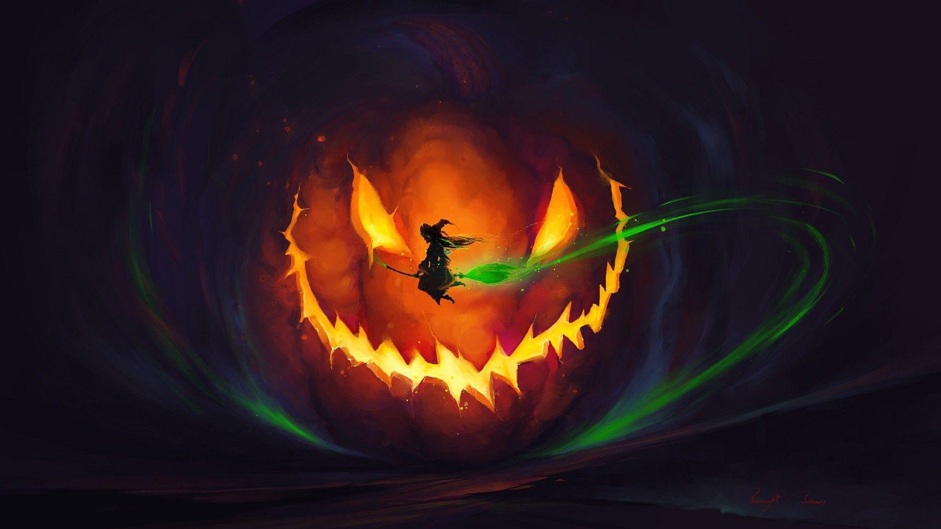 Artstation Witch World Bis Biswas Halloween Jack O Lanterns