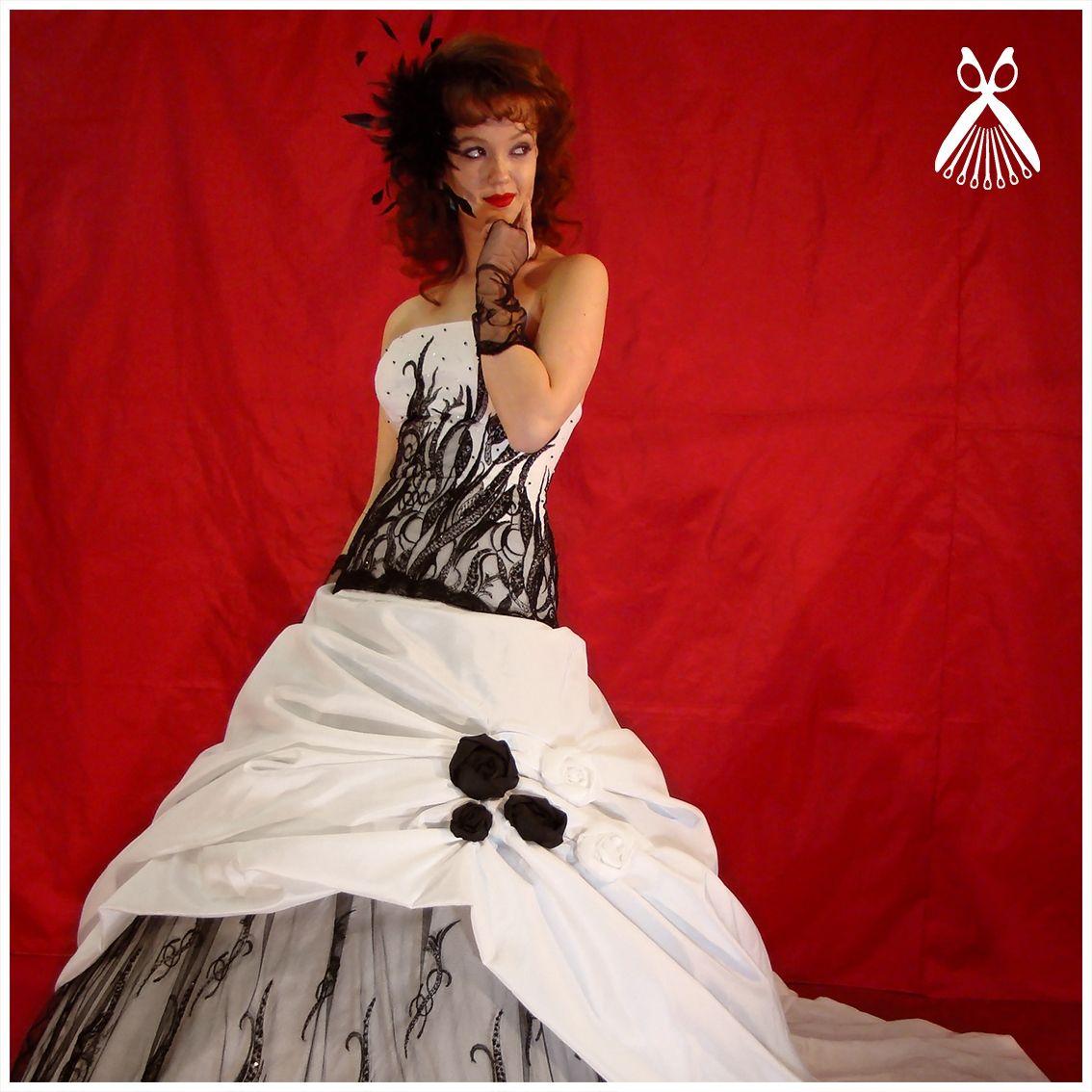 Dochi Rosa Brautkleid | SCHWARZE BRAUTKLEIDER | BLACK WEDDING ...
