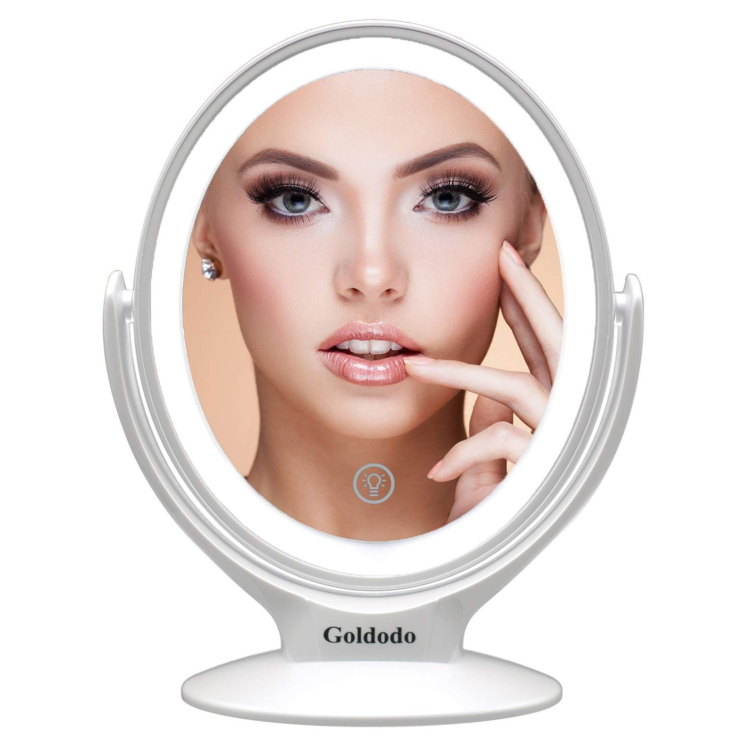 light mirror for makeup with light 7x Magnified,TwoSided