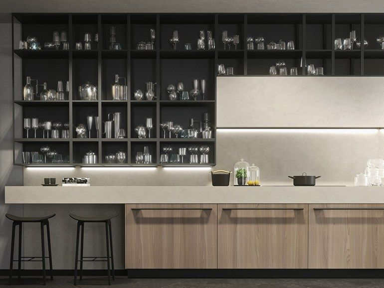 Linear fitted kitchen with handles OPERA | Linear kitchen - Snaidero