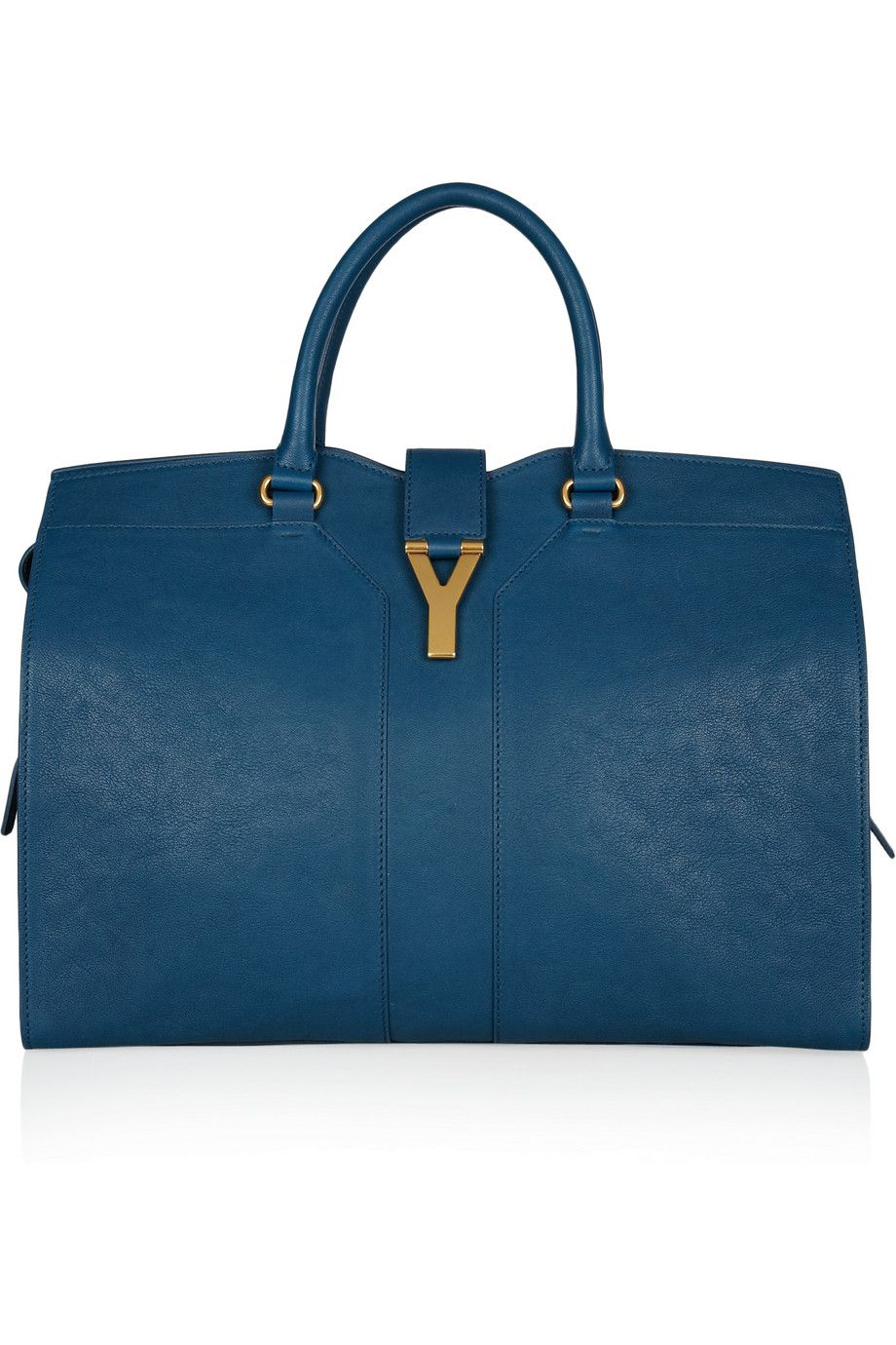 Yves Saint Laurent Large Cabas Chyc leather tote in this STUNNING blue 531fe4aec5dfa