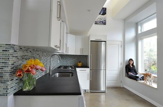 Kitchen in 500-square-foot Small House
