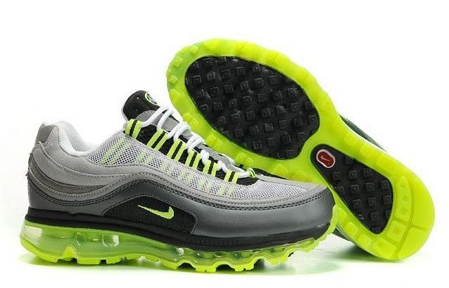 Womens Black Gray Green Air Max 95+97 Nike Shoes