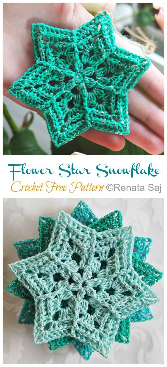 8 Winter Flower Snowflake Crochet Free Patterns - Crochet & Knitting