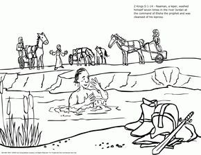 Naaman And The Servant Girl Coloring Pages Naaman The Leper Sunday