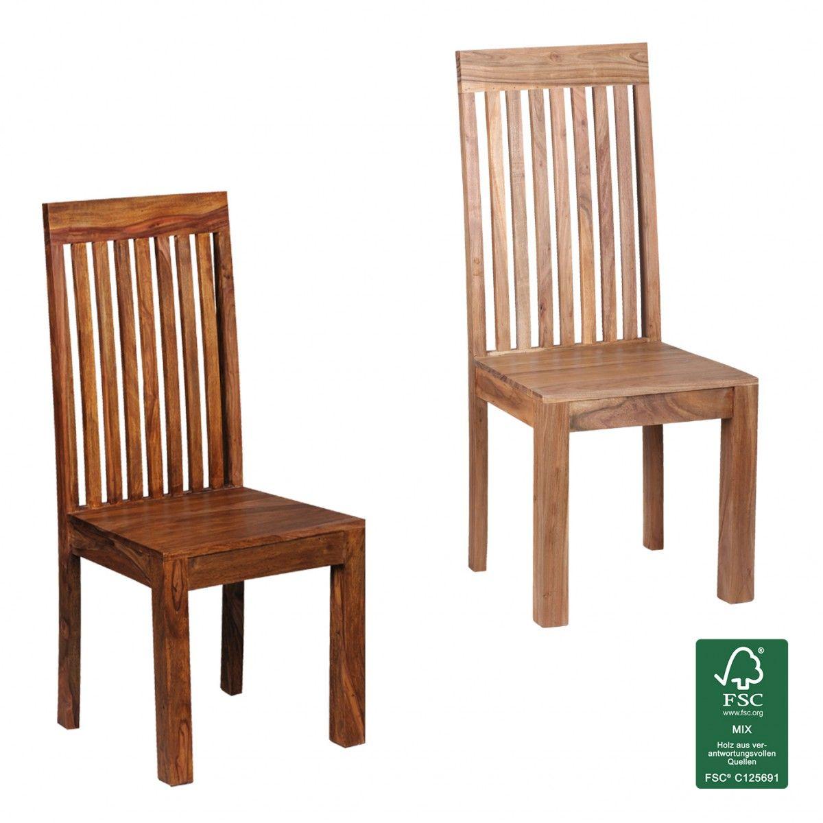 FineBuy Esszimmerstühle 20er Set Massiv-Holz Küchen-Stühle