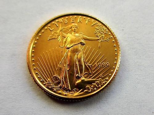 1999 1 10 Oz 5 American Gold Eagle Coin Brillant Uncirculated Coins Gold Eagle Coins Gold Coins