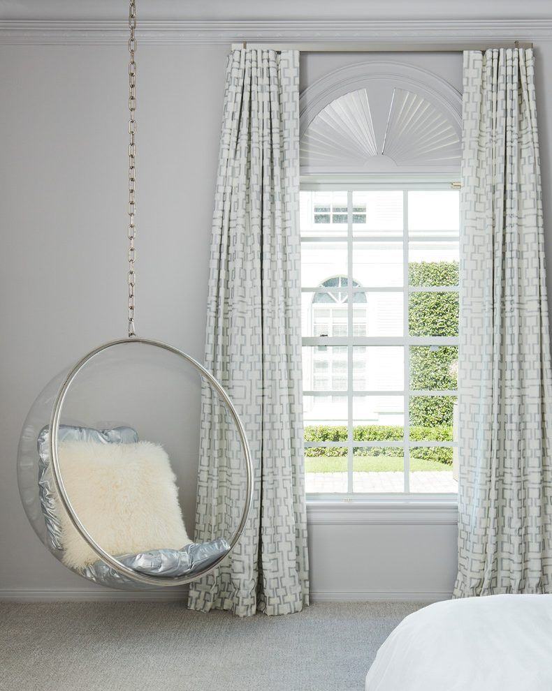 bedroom glass chair office chairs under 500 gray and white bedrooms interior designs with clear swing hanging