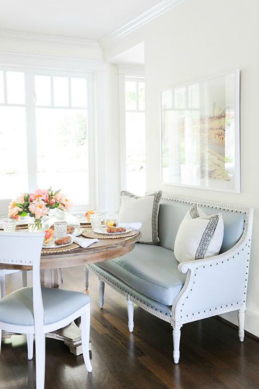 How To Create A Lovely Breakfast Nook With Modern Sofas Dining Room Trends Settee Dining Transitional Dining Room