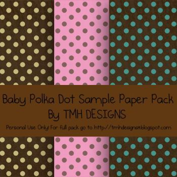 Baby Polka Dot Sample Paper Pack by frenzymcgee Photoshop - sample paper