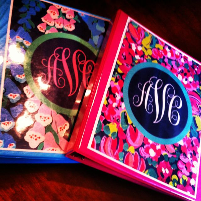 I did this on my binder with powerpoint. turned out great. {lily pulitzer monogram binders!}