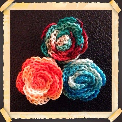 Embroidery Floss Crochet Roses Using Embroidery Floss Instead Of