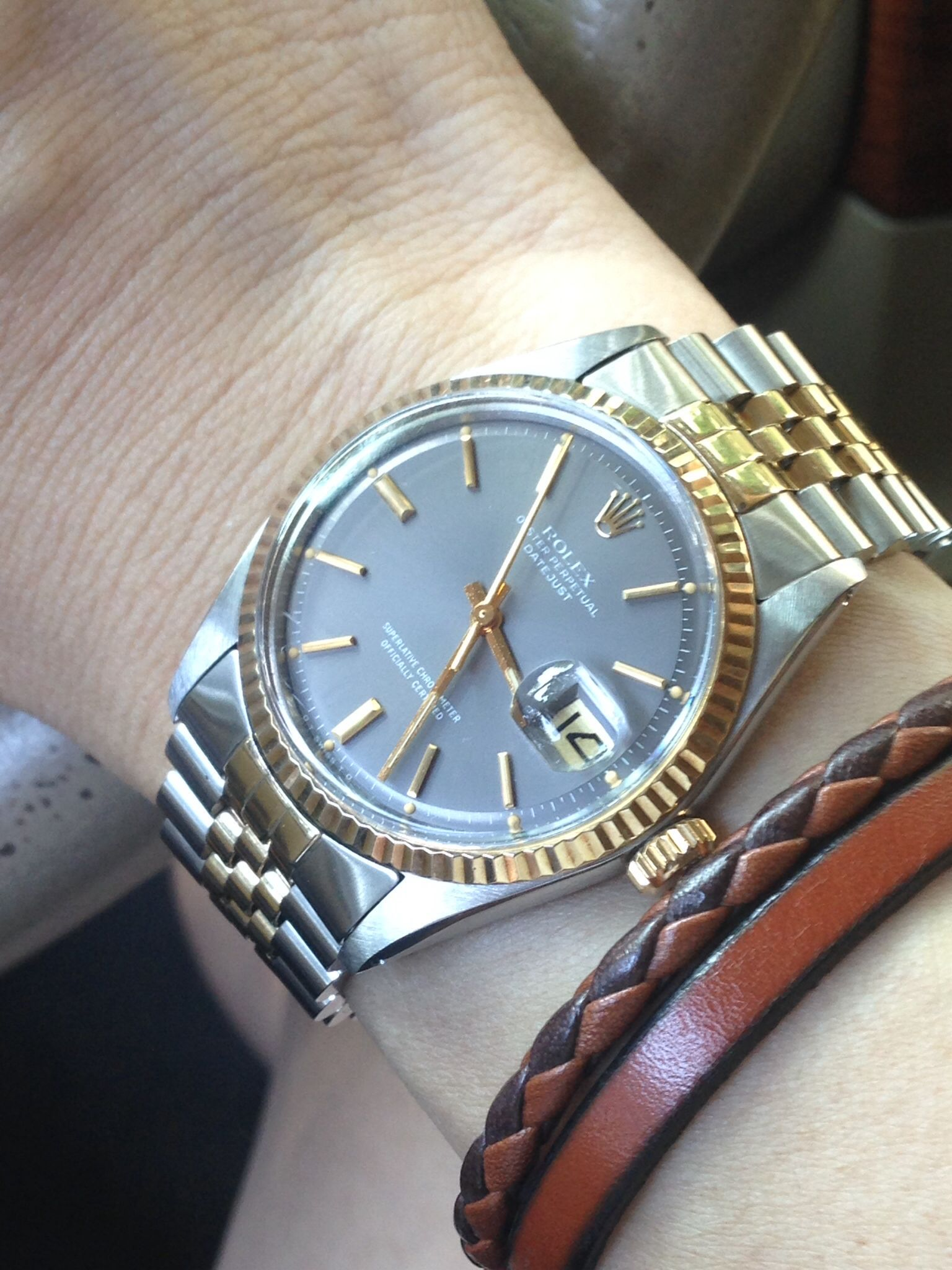 Two-tone Datejust 1601 with slate sigma pie-pan dial