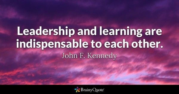 Quotes On Learning Best Le Leadership Et L'apprentissage Sont Indispensables Les Uns Aux . Design Inspiration