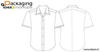 Shirt Template Vector  Roupa Masculina    Template
