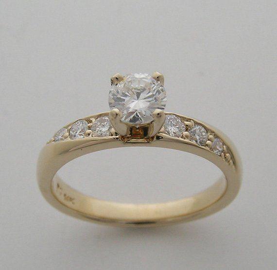 Price Slashed Sale Yellow Gold Diamond Engagement Ring 14K