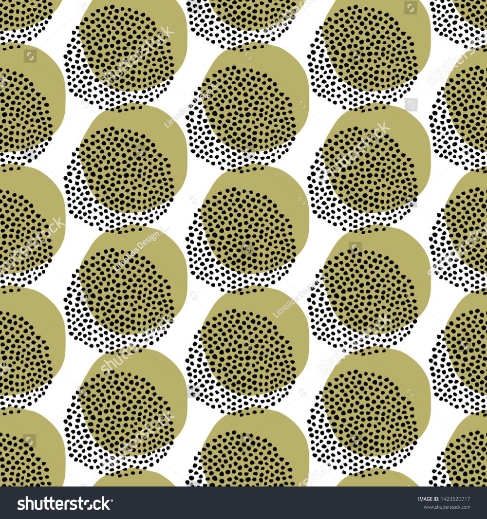 Seamless Embroidery Dot Vector Border Pattern. Modern
