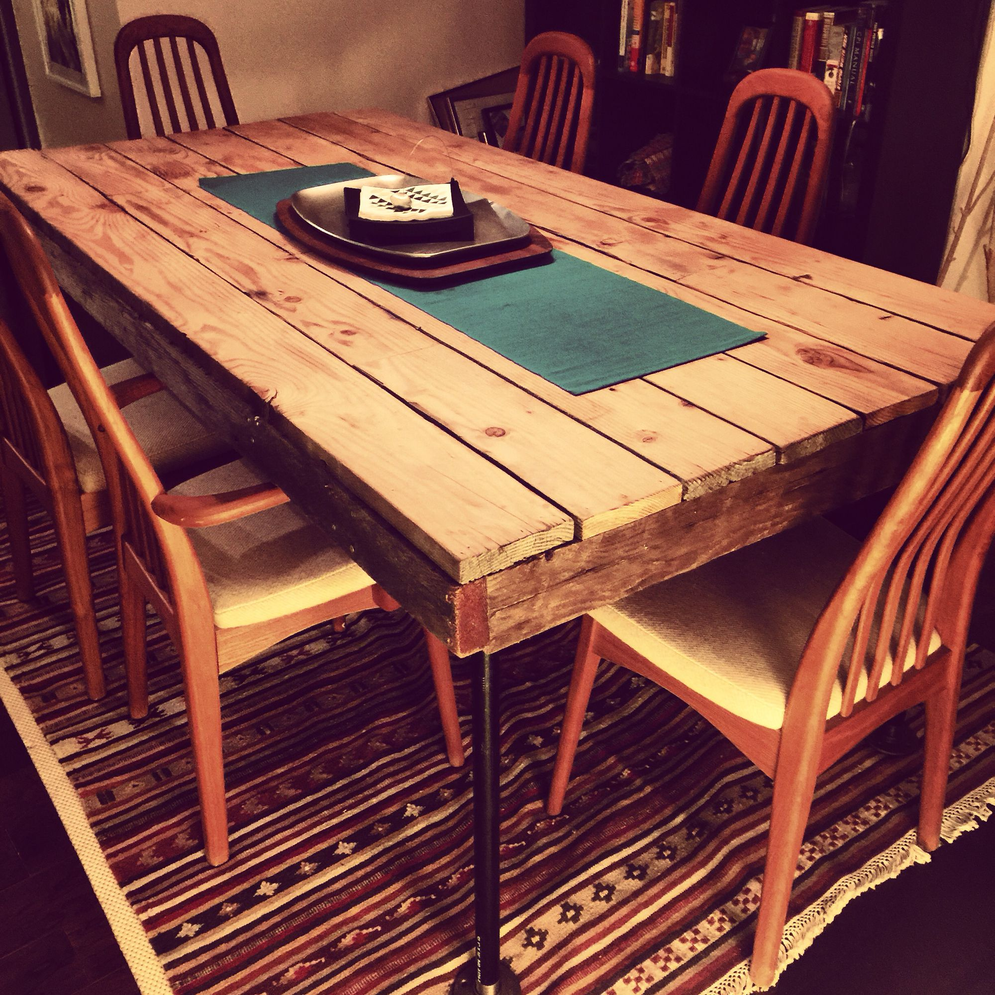 Reclaimed Oregon barn wood dinning table | Pallet ...