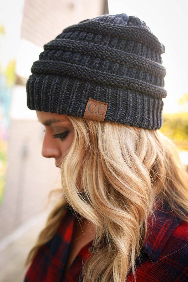 Beanie Beautiful in Heathered Navy  dcbdfde2695