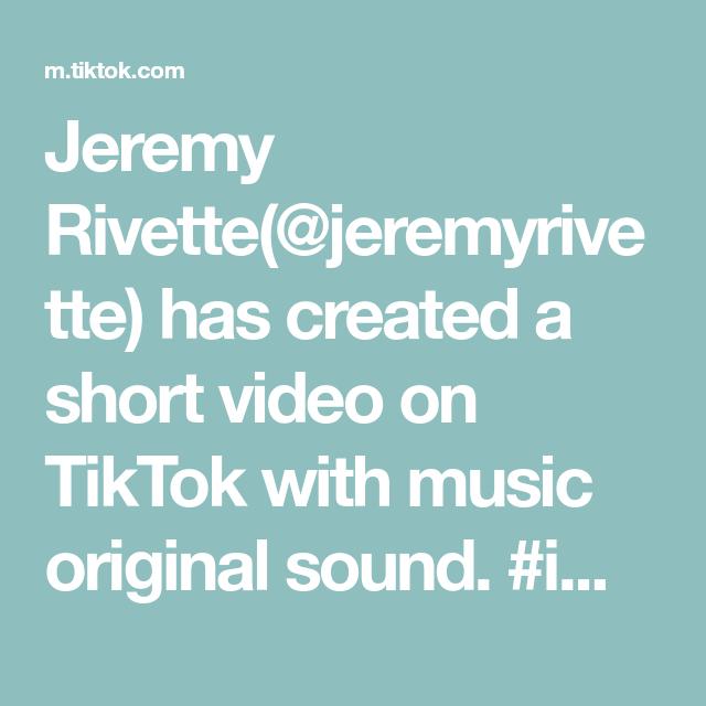 Jeremy Rivette Jeremyrivette Has Created A Short Video On Tiktok With Music Original Sound Imagine Conspiracy Conspiracyt Music Waves The Originals Music