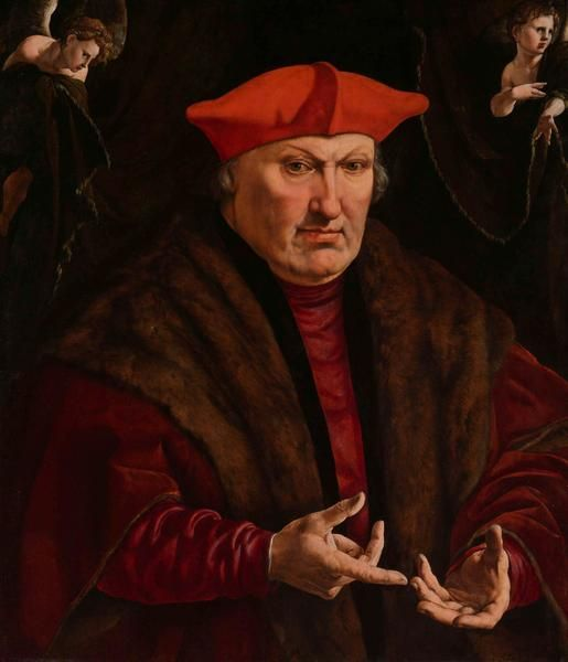 Jan Cornelisz Vermeyen, 1528 - Portrait of Erard de la Marck - art print, fine art reproduction, wall art