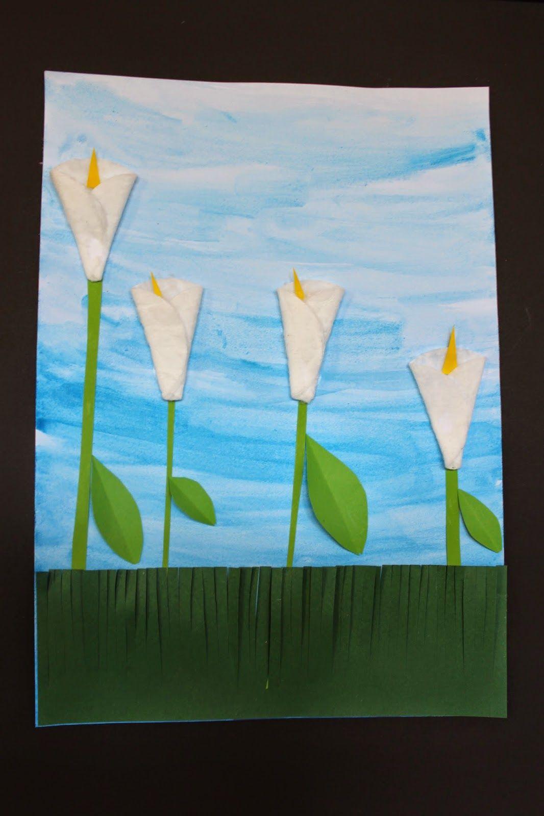 KLASSENKUNST: Frühlingsblumen
