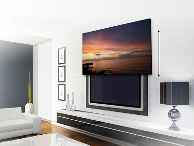 The Amazeballs Picture Lift Hide A Flat Screen Tv Behind A Piece